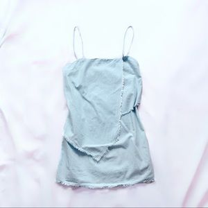 sabo skirt • layered denim dress